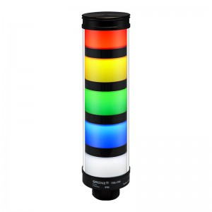 50mm LED tower light, diffused lens, steady, Red/Yellow/Green/Blue/White, 1m cable with lead wires, 12V DC, IP65