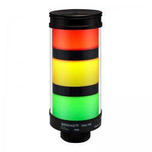 50mm LED tower light, diffused lens, steady, Red/Yellow/Green, 1m cable with lead wires, 12V DC, IP65