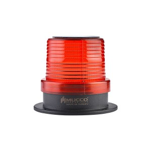 90mm  Solar powered  Beacon, Red Flashing, IP65, water/dust/heat/UV Ray resistant