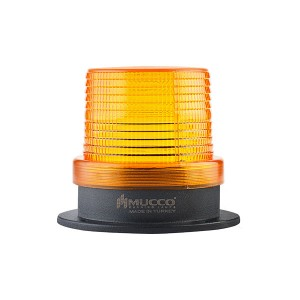 90mm  Flattop  Beacon, Yellow steady/flashing/strobing/rotary/Right-Left strobing, 85-110dB alarm with 10 melodies, IP65, water/dust/heat/UV Ray resistant, 85-260VAC/DC